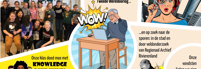 Strip gemaakt tijdens bezoekles aan het RAR