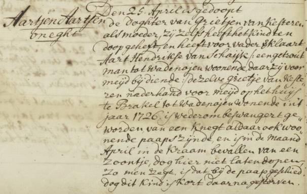 DTB boek Geldermalsen 1723